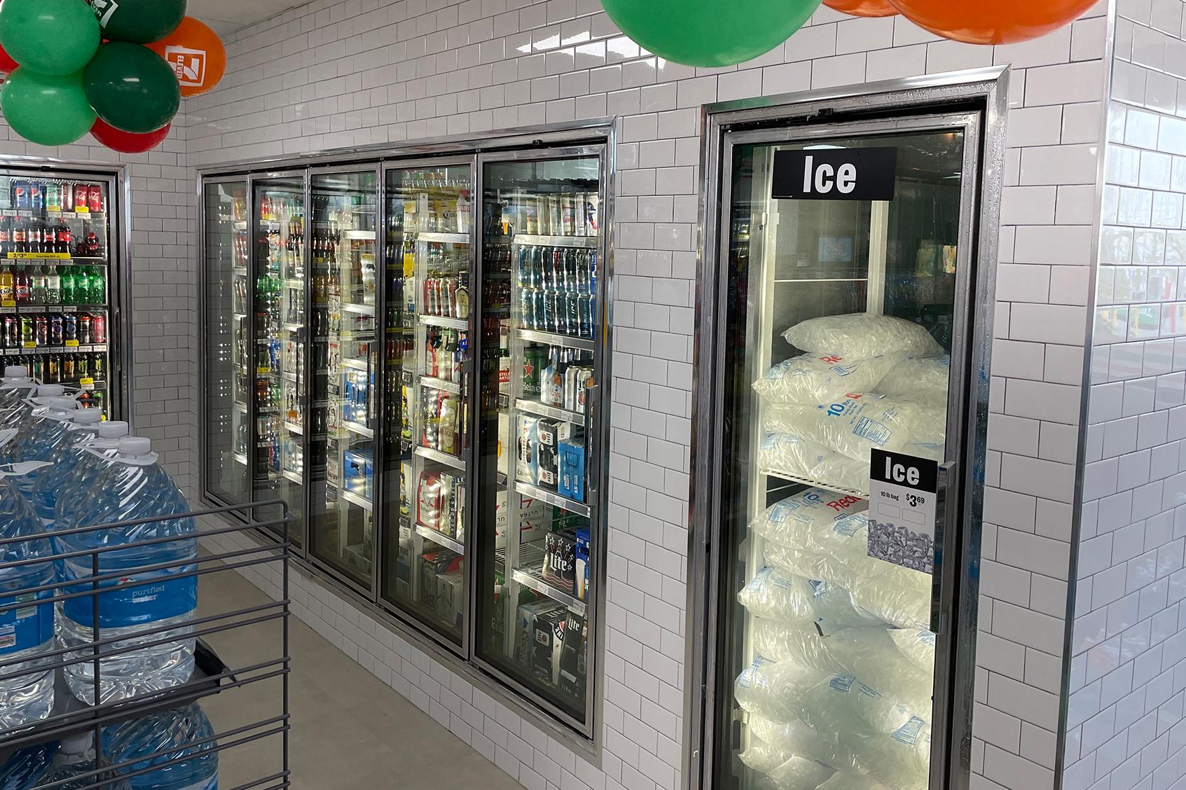 Convenience Store Ice Freezer